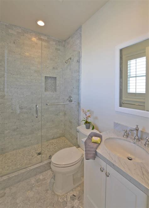 transitional neutral bathroom  marble tile shower hgtv