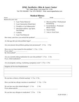 New Patient Form - Integrity Medical Aesthetics