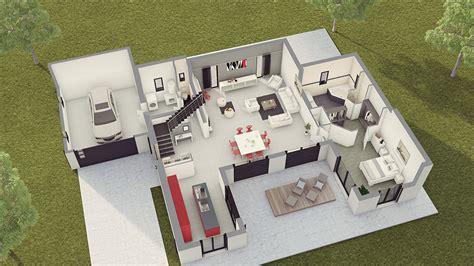 simulation cuisine 3d maison contemporaine loft 2 maison laure constructeur