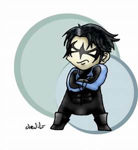 Nightwing chibi by Mother-nono on deviantART