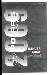 2009 Polaris Ranger 4x4 700 Efi Crew Owners Manual