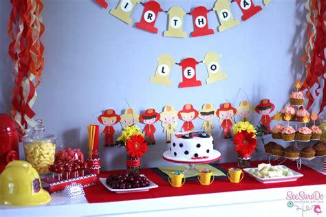 sweet table anniversaire sam le pompier anniversaire