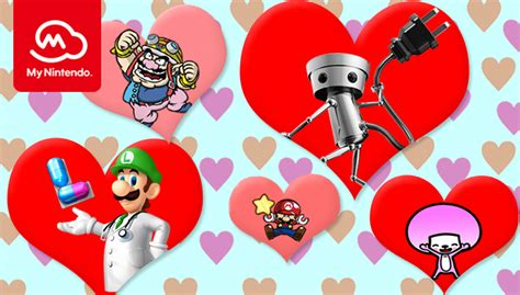 nintendo members  celebrate valentines