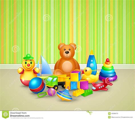 Play In Background Play Room Background Stock Vector Image 40586070