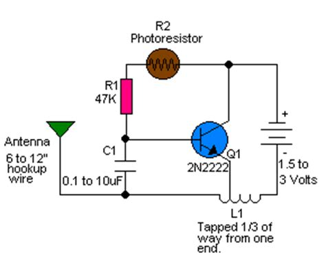 Light Control Radio Frequency Transmitter Circuit With