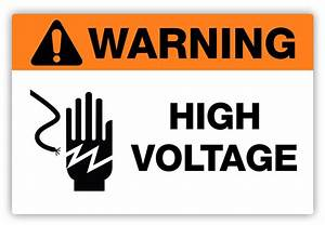 warning high voltage label phs safety With high voltage warning label requirements