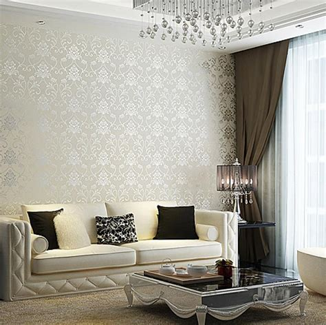 wallpaper for livingroom 30 and chic living rooms with damask wallpaper