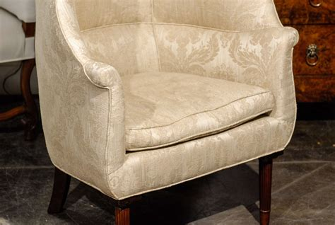 large barrel back wing chair at 1stdibs