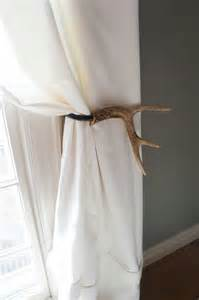 Diy Deer Antler Curtain Tie Backs by Curtain Tieback Deer Antler Tie Back Holdback Cabin Decor