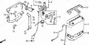 Honda Motorcycle 1985 Oem Parts Diagram For Battery