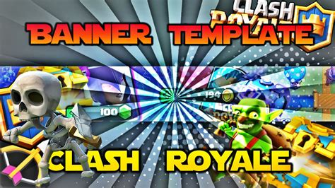 Banner Template De Clash Royale by Banner Template Clash Royale Speed Art Editable Full