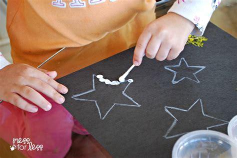 kids art project  tip star art mess
