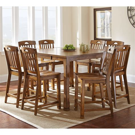 Steve Silver Menton 9 Piece Counter Height Dining Table