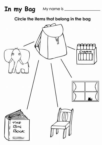 Classroom Objects Worksheet Coloring Pages Kindergarten Worksheets