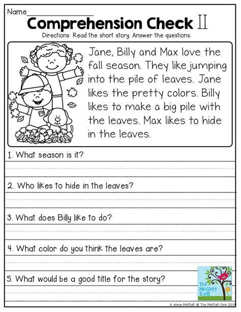 comprehension worksheets for grade 2 helpful visualize