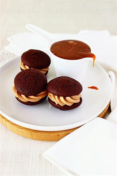 Chocolade-karamel whoopies