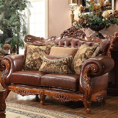 european leather sofa set wood and leather sofa set nice leather and wood sofa