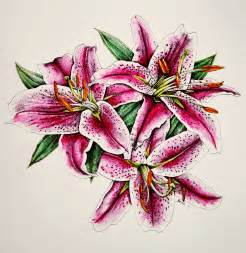asiatic lilies illustration dear artist page 2