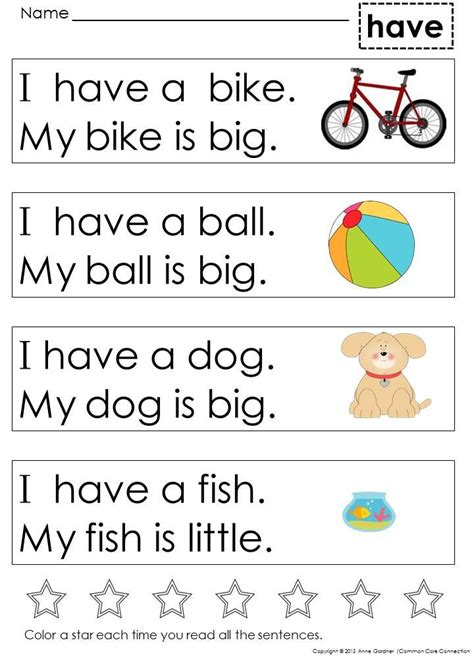 kindergarten sight word sentences for guided reading 881 | 709bb09d08cb8873394dc627736f99f6 sight word sentences sight words