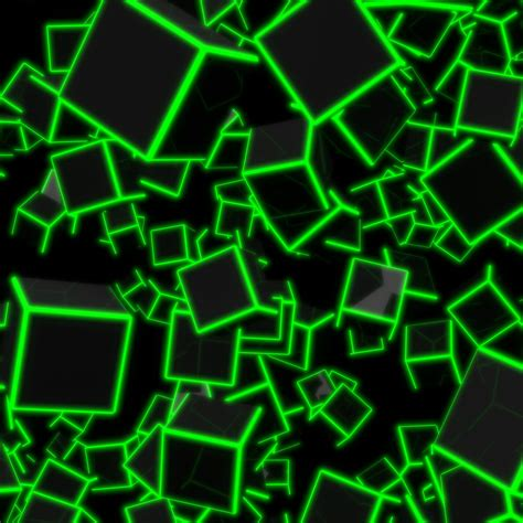green neon cubes  uhd wallpaper