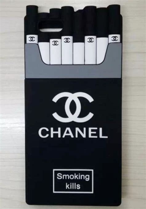 chanel cigarette iphone smoking kills iphone    silicone case