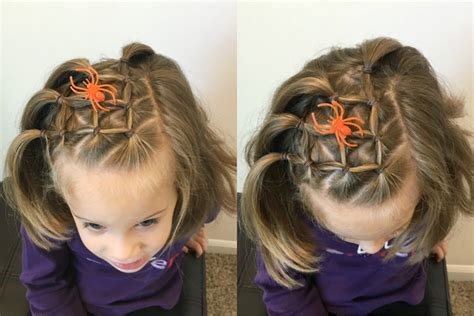 spider web hairstyle elastic style  short long hair