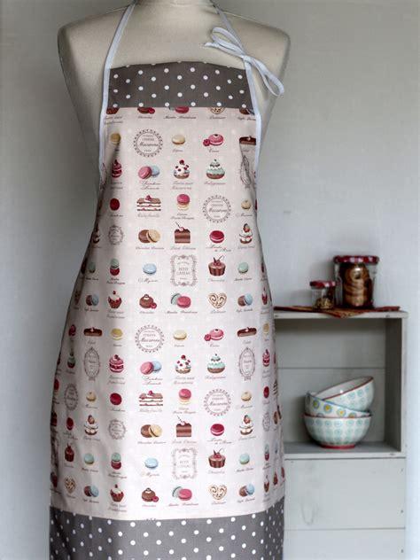tablier et toque de cuisine tablier femme p 226 tisseries creacoton