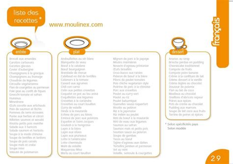 liste de recette de cuisine liste des recettes incluses dans le cookéo 100 recettes