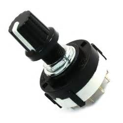 rotary switch band selector 4 pole 3 position 16 pin twist knob black 4p3t
