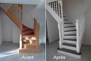 avant apres peindre lambris mansarde des idees With nice peindre des escalier en bois 16 les escaliers avant apras