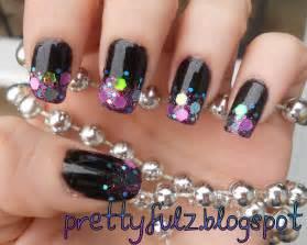 Prettyfulz cute nail art design glitter shimmer