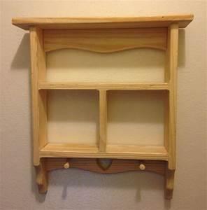 Vintage Wooden Curio Cabinet Display Wooden Shelf Decor ...