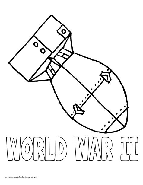 World War 2 Coloring Pages Printable Printable Coloring Page My Homeschool Printables 187 History Coloring Pages Volume 4