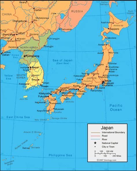 japan map  satellite image