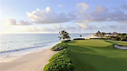 Golf Grass Beach Course Landscape Sand Mexico