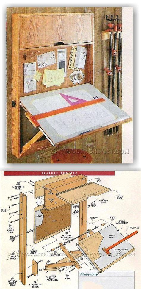 fold  drafting table plans workshop solutions