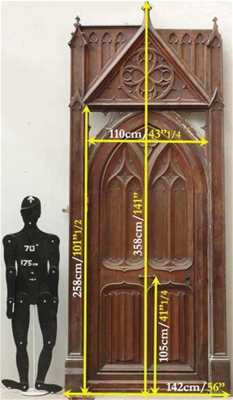 neo gothic oak  walnut door doors