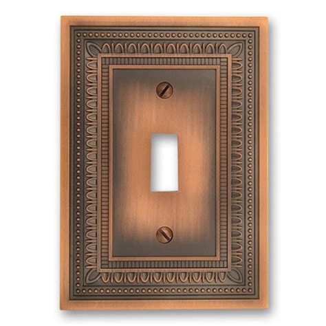 amerelle filigree  toggle wall plate antique copper