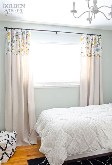drop cloth curtains diy no sew drop cloth curtains the golden sycamore