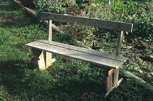 un banc de jardin a faire soi meme With comment fabriquer un banc de jardin