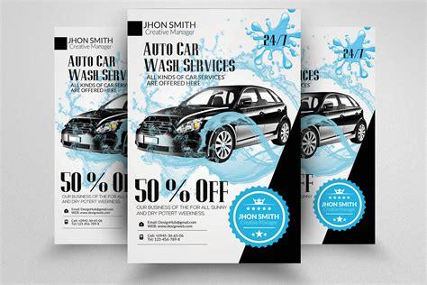 Car wash advertising flyer template. Car Wash Flyer (69752) | Flyers | Design Bundles