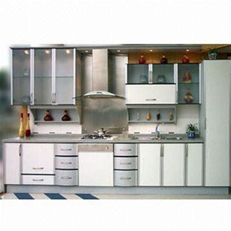 Laminated Panel Kitchen Cabinet Doors with Aluminum