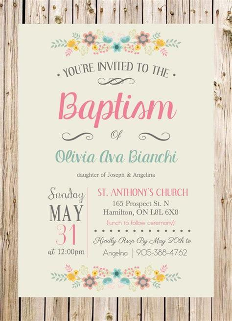 Baptism Invitation Christening Church Ceremony Party