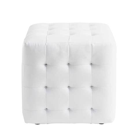 coffre canapé pouf blanc capitonné chesterfield maisons du monde