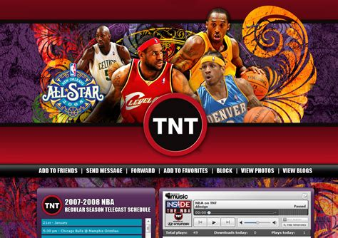 tnt  nba  star game myspace design daddy design