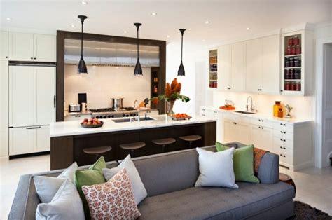 cuisine ouverte salon petit espace idée cuisine ouverte sur salon petit espace cuisine en image