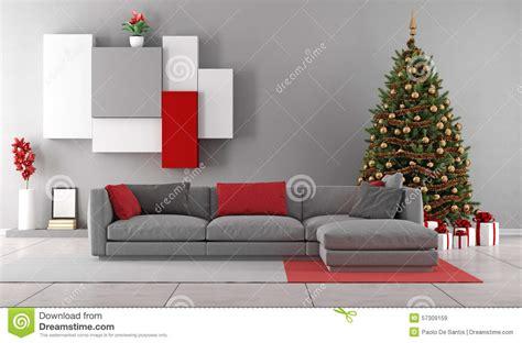 living room  christmas tree stock illustration image