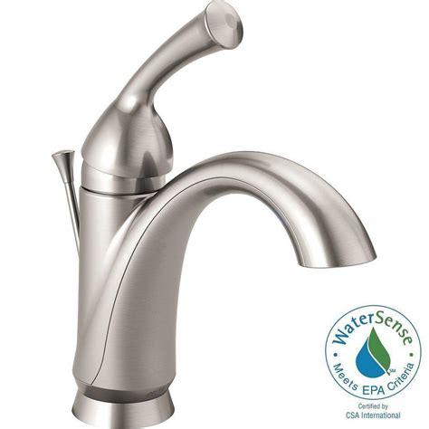 delta haywood single hole single handle bathroom faucet in