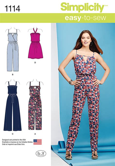 jumpsuit sewing pattern simplicity 1114 misses 39 easy dress and jumpsuits sewing