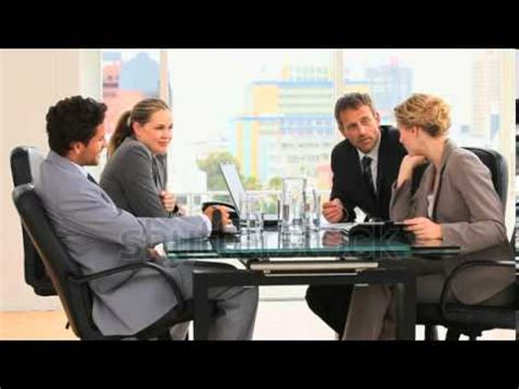 13612 business meeting table stock footage meeting between business on a table